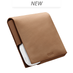 LEATHER FOLIO SMALL, Brun, medium