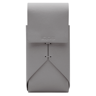 IQOS 2.4 Plus Leather Pouch, Grey, large