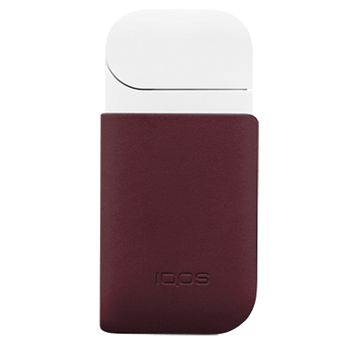 IQOS 2.4 Plus Leather Clip, Burgundy, large
